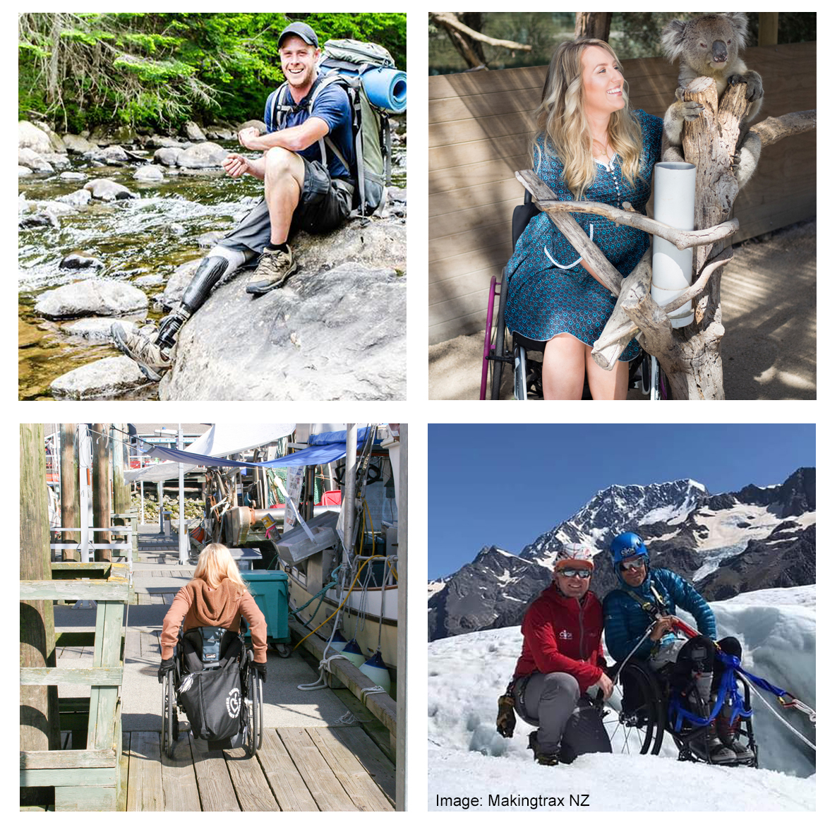 Images showing inclusive tourism examples