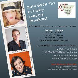 Women in Tourism & Hospitality Tasmania - Leaders Breakfast 2018