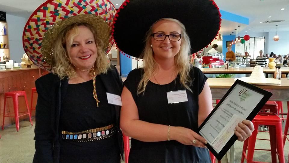 2016 Scholarship recipient - Katherine Halliday with Jane Johnston